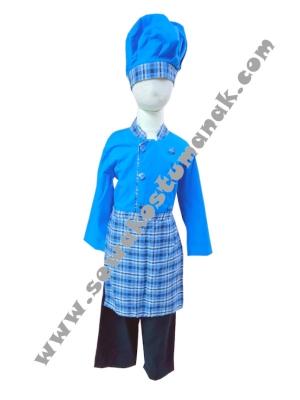 Kostum Koki Biru  large