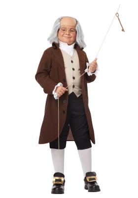 boys benjamin franklin costume  large
