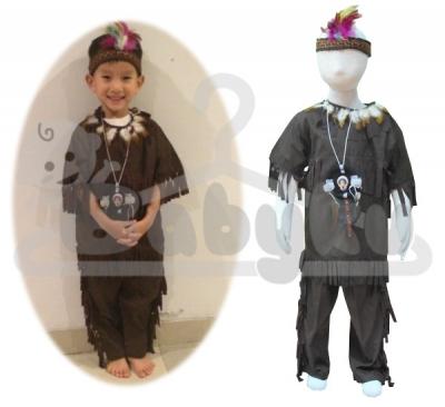 kostum indian laki laki  large