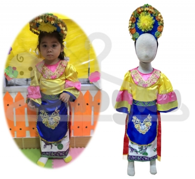 kostum tari yapong betawi  large