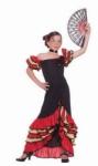 Kostum Negara Spanyol - Girl Merah Hitam